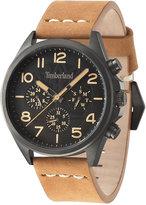 Timberland Men's Brant Light Brown Leather Strap Watch 45x53mm TBL14844JSU02