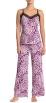 Josie Lace Trim Camisole 2-Piece Pajama Set