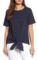 Gibson Women's Cotton Tie Front Top