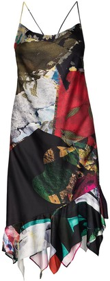 Marques Almeida Sleeveless Patchwork Midi Dress