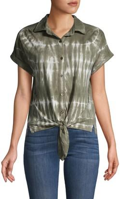C&C California Tie-Dyed Cotton-Blend Shirt