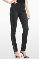 NYDJ Alina Legging In Glitter Coated Future Fit Denim With Tuxedo Stripe