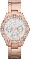 JCPenney RELIC Relic Sophia Womens Crystal-Accent Rose-Tone Bracelet Sport Watch ZR15741