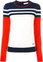 Tory Burch cashmere striped jumper - women - Cashmere - L