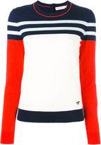 Tory Burch striped jumper - women - Cashmere - S