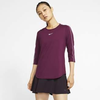 Nike Women's 3/4-Sleeve Tennis Top NikeCourt