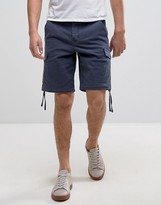 Pretty Green Vale Cargo Shorts In Navy