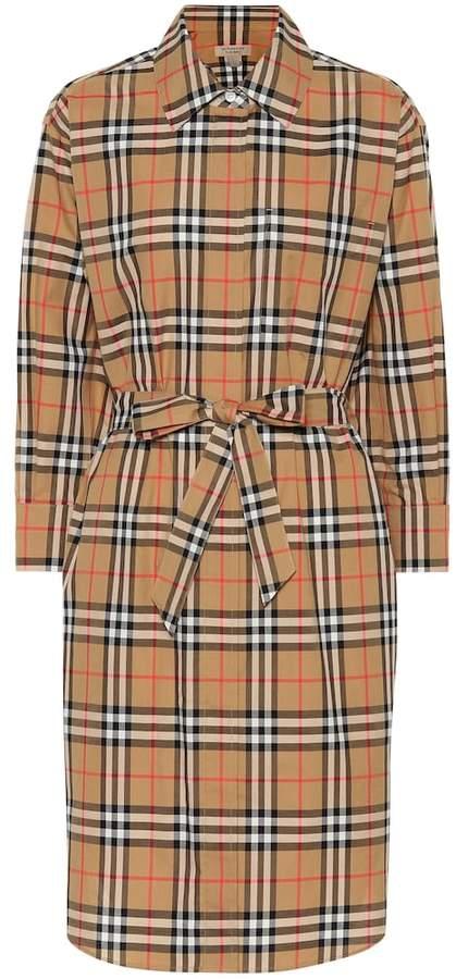 Burberry Checked cotton shirt dress
