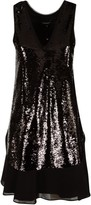 Emporio Armani Sequin-coated Mid-length Dress