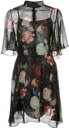 Adam Lippes Floral Print Mini Dress