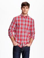 Old Navy Regular-Fit Classic Plaid Shirt for Men