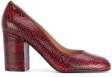 Pollini snakeskin effect pumps