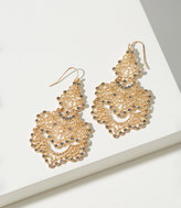LOFT Crystal Filigree Chandelier Earrings