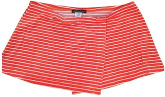 Laura Urbinati Orange Cotton Skirt for Women