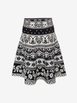Alexander McQueen Floral Jacquard Mini Skirt