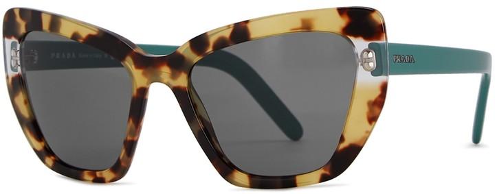 Thumbnail for your product : Prada Tortoiseshell Cat-eye Sunglasses
