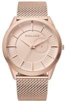 Police Helder Men's Rose Gold Tone Mesh Bracelet Watch