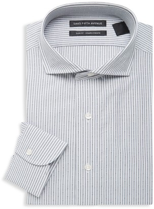 Saks Fifth Avenue Slim-Fit Striped Dress Shirt