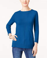 Karen Scott Luxsoft Rolled-Neck Sweater, Created for Macy's