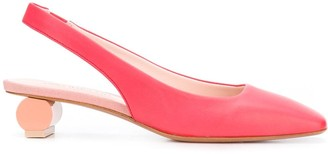 Anna Baiguera Ally square-toe slingback heels