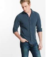 Express pique knit long sleeve shirt