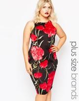 AX Paris Plus Midi Dress In Floral Print