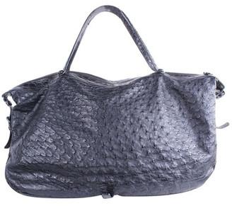 Bottega Veneta Black Ostrich Leather Shoulder Bag