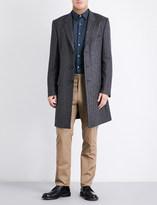 Gieves & Hawkes Herringbone alpaca wool overcoat
