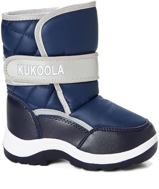 Adorababy Boys' Cold Weather Boots NAVY - Blue & Gray Ankle-Strap Adorababy Snow Boots - Boys