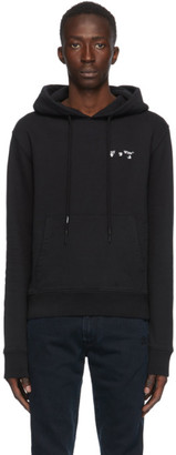 Off-White Black Small Logo Slim Hoodie