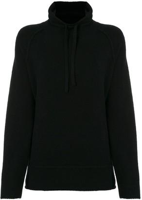 James Perse Mock-Neck Drawstring Sweatshirt