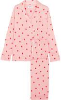 DKNY The Match Up Polka-dot Washed-satin Pajama Set