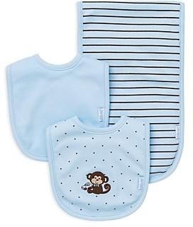 Little Me Infant Boys' Monkey Bib & Burp Cloth Set - Baby