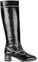 Maryam Nassir Zadeh Kiki studded knee-length boots