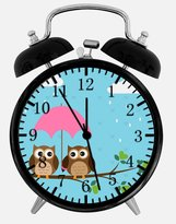 "Dekad Cute Owl Alarm Desk Clock 3.75"" Home or Office Decor E313 Nice For Gift"
