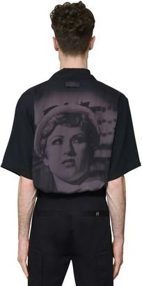 Undercover Printed Tencel Short Sleeve Shirt