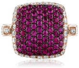 Effy Jewelry Effy Diversa 14K Rose Gold Ruby and Diamond 2-Way Ring, 3.98 TCW