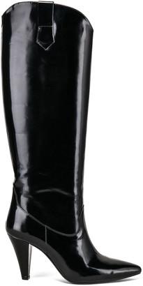 ZEYNEP ARCAY Patent Leather Knee High Boots in Black | FWRD