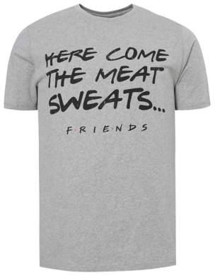 George Friends TV Series Grey Slogan Print T-Shirt