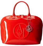 Armani Jeans Charm Logo Satchel Satchel Handbags