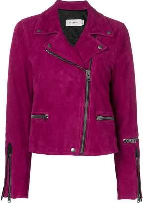 Coach zipped biker jacket