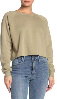 PST by Project Social T Crew Neck Raw Edge Sweatshirt