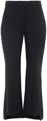 Alexander McQueen Satin-trimmed Wool-blend Crepe Kick-flare Pants