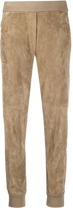 Brunello Cucinelli Suede Effect Track Pants