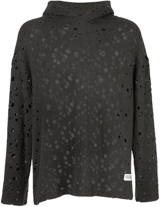 Mostly Heard Rarely Seen Holey perforated hoodie