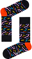 Happy Socks Papercut Socks, One Size, Black/multi