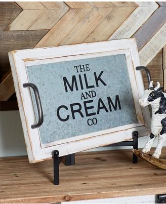 Uma White Farmhouse Milk & Cream Tray - Set of 2