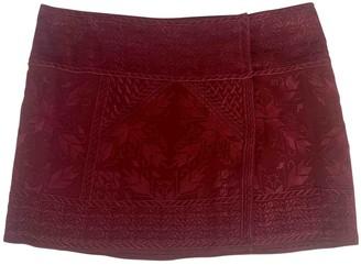 Isabel Marant Burgundy Silk Skirt for Women