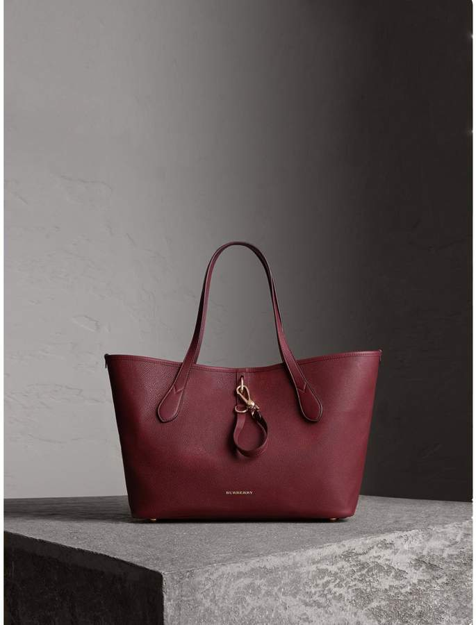 Burberry Medium Grainy Leather Tote Bag