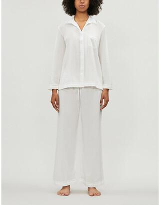 Selfridges Lace-detail cotton pyjama set